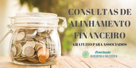 Consultas de alinhamento financeiro - online ou presencial bilhetes