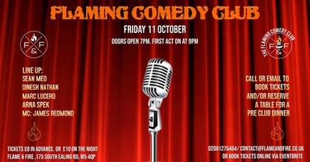 The Flaming Comedy Club tickets