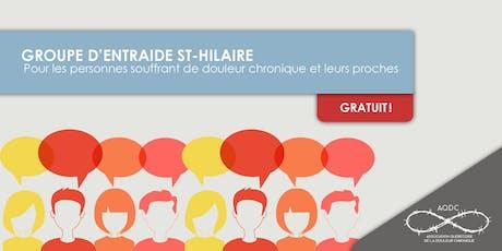 AQDC : Groupe d'entraide St-Hilaire - 3 octobre 2019 billets