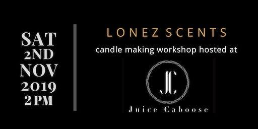 Candle Making Workshop at Juice Caboose