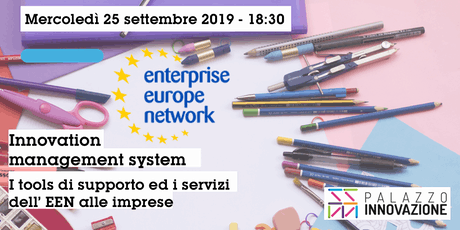 Innovation management system - I tools di supporto ed i servizi dell'EEN tickets
