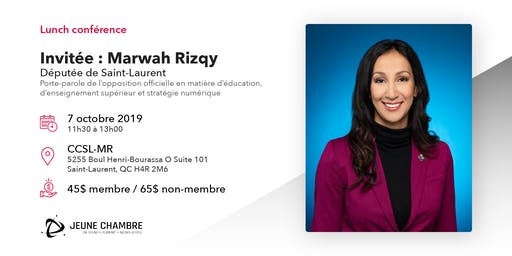 Lunch conférence - Invitée : Marwah Rizqy