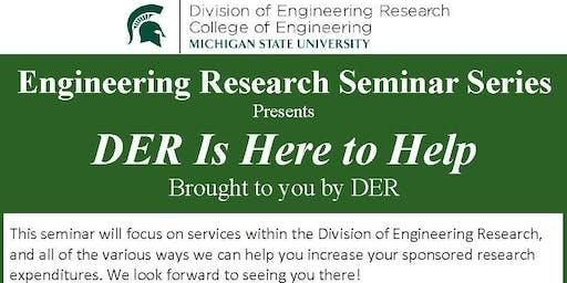 DER Presents: DER Is Here To Help