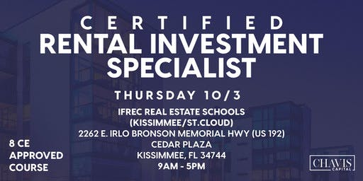 Certified Real-Estate Investment Specialist Certification (CRIS)