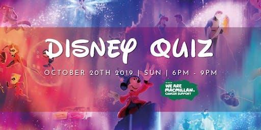 Disney quiz in aid of MacMillan Nurses