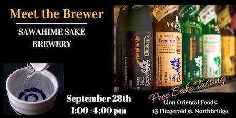 Meet The Brewer - Sawahime Sake Brewery  tickets