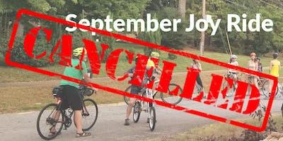 BikeAthens September JoyRide CANCELLED