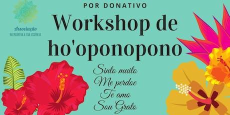Workshop de Hoponopono bilhetes