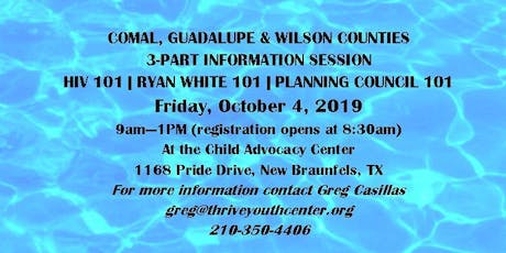 HIV 101 - Ryan White 101 - Planning Council 101 tickets