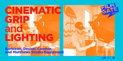 Cinematic Grip and Lighting with Barbizon, Desisti, Coemar and Matthews Studio Equipment