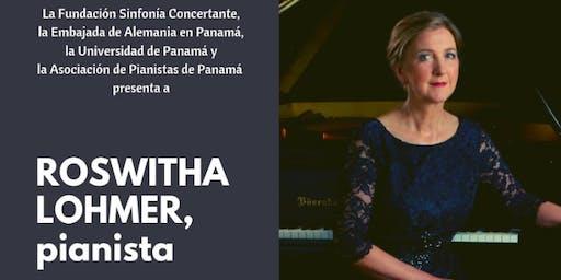 Concierto de Roswitha Lohmer en el Domo de la Facultad de Bellas Artes