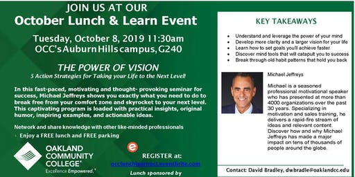 OCC's Economic and Workforce Development October Lunch and Learn