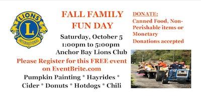 ANCHOR BAY LIONS CLUB FALL FESTIVAL FREE FAMILY FUN DAY