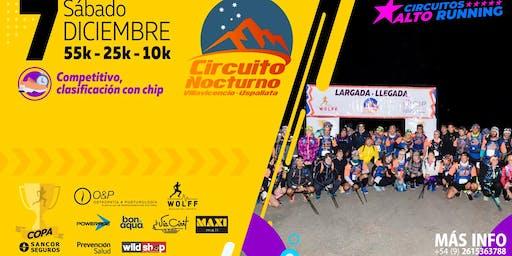 CIRCUITO NOCTURNO VILLAVICENCIO USPALLATA. 8° Edición. 5° Fecha Circuitos Alto Running Copa Sancor Seguros