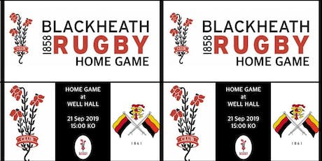 Blackheath v Richmond 21st Sept 2019 tickets