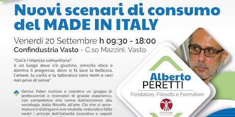 Nuovi scenari di consumo del Made in Italy biglietti