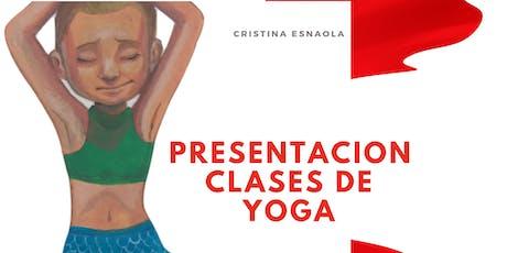 Presentacion clases de yoga entradas