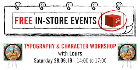 Typography & Character Worskhop with Lours tickets