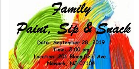 Family Paint, Sip & Snack tickets