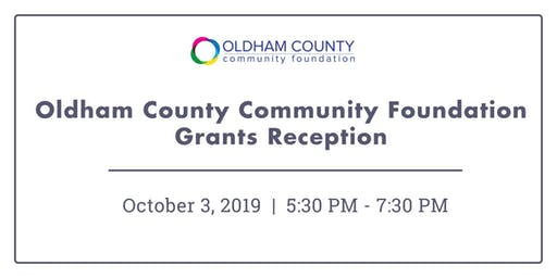 Oldham County Community Foundation Grants Reception