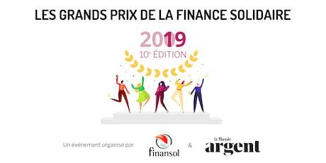 Grands Prix de la finance solidaire - 10ème édition billets