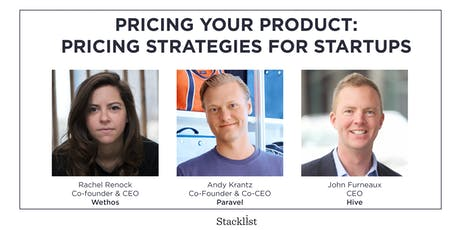 Pricing Your Product: Pricing Strategies for Startups tickets