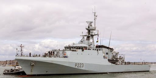 HMS MEDWAY Ship Open To Visitors