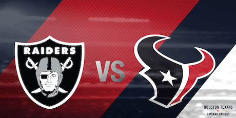 Texans Vs Raiders Tailgate with GFE Tailgaters tickets