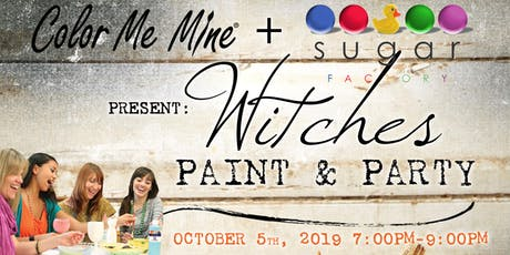 Witches Paint & Party - Ceramics Painting, Food & Drinks at Sugar Factory tickets