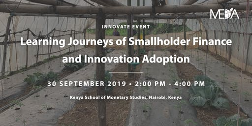 Learning Journeys of Smallholder Finance and Innovation Adoption Side Event