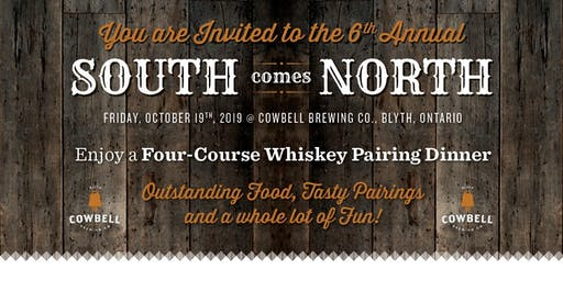 6th Annual South Comes North: A Four -Course  Whiskey Pairing Dinner