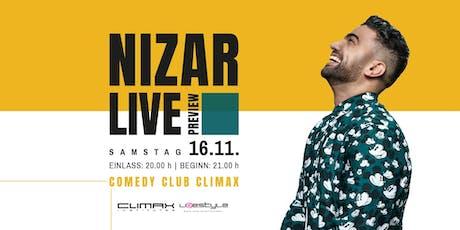 Comedy im Climax: NIZAR LIVE! Tickets