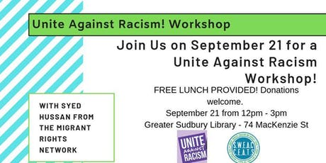 Unite against Racism! Workshop tickets
