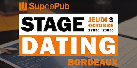 STAGE DATING x Sup de Pub Bordeaux  l  Jeudi 3 octobre 2019 billets