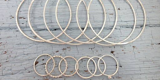 Jewellery & Silversmithing Workshop: Silver Bangles & Stacking Rings Workshop