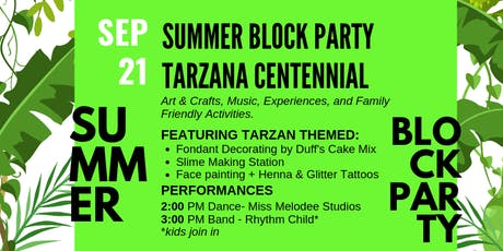 Tarzana Centennial End of Summer Block Party!  tickets