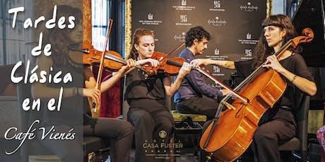Tardes de Clásica en el Café Vienés: CUARTETO DE PIANO entradas