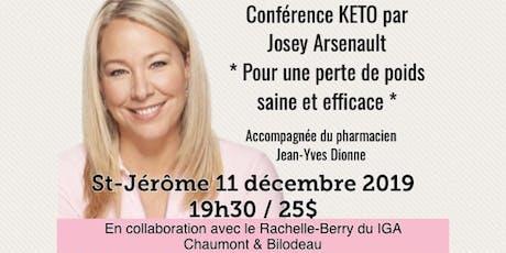 ST-JÉRÔME - Conférence KETO - Pour une perte de poids saine et efficace!  billets