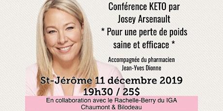 ST-JÉRÔME - Conférence KETO - Pour une perte de poids saine et efficace!  tickets