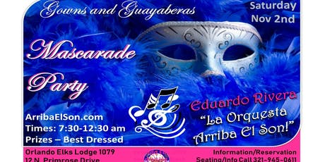 Mascarade Ball - Gowns & Guayavera - Latin Dance - Sat. Nov 2 tickets