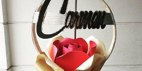 Flowers Of Origin-Personalised Floral Hoop Workshop tickets