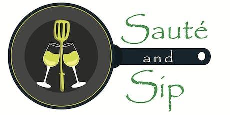 Sauté and Sip tickets