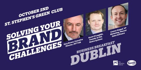 """Solving Your Brand Challenges"" Business Breakfast tickets"