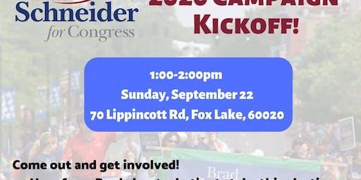 Team Brad Campaign Kickoff in Fox Lake 9/22