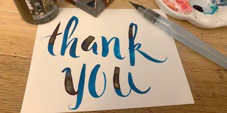 Learn Brush Lettering for Gratitude Journaling tickets