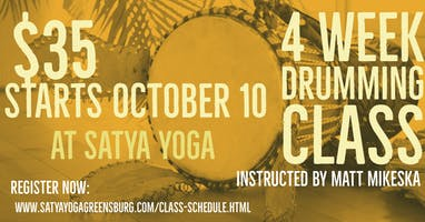 4 Week Drumming Class Session