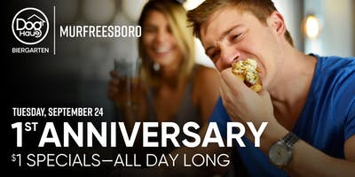Dog Haus Biergarten's First Anniversary Celebration: $1 Hot Dogs & PBRs
