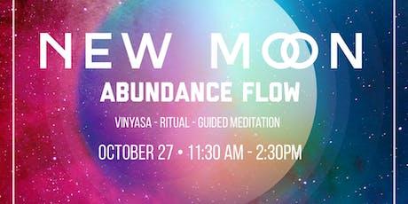 New Moon Abundance Flow & Metaphysical Market tickets