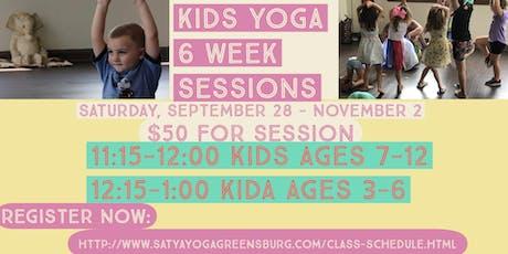 Kids Yoga Class- 6 week Session tickets