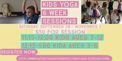Kids Yoga Class- 6 week Session